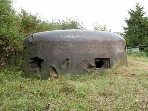 Westwall-Kampfbunker mit Spuren von Geschosseinschlägen  / Foto: Wikipedia/Markus Lauer