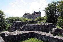 Vom älteren Teil der Burg Habsburg sind nur noch Fundamente erhalten / Foto: Wikipedia / Tage Olsin