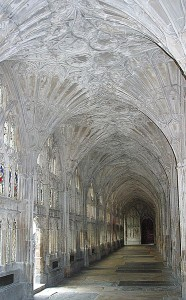 Kreuzgang in Gloucester Cathedral: Eine Kathedrale als Hogwarts-Double / Foto: Wikipedia/Nina-No (Nina Aldin Thune)