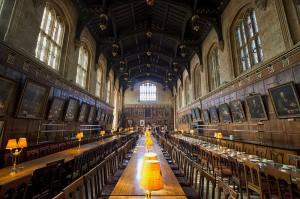 Die große Halle des Christ Church Collegue in Oxford - Vorbild für die große Halle in Hogwarts / Foto: Wikipedia/chensiyuan