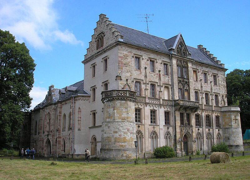 Schloss Reinhardsbrunn. Der russische besitzer wurde enteignet.
