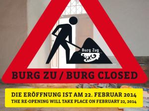 """""""Burg closed"""" - Screenshot von der Seite des Museums Burg Zug"""