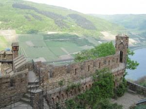 Blick von Burg Sooneck ins Rheintal