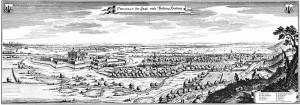 Harburg mit der Barockfestung (links) im Jahr 1654 / Bild: Wikipedia/Merian