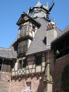 Die Mühle auf einem der Türme