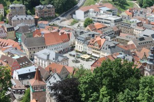 Blick von der Plassenburg auf Kulmbach