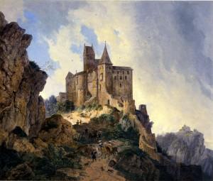 Burg Kipfenberg im Jahr 1815. Ölbild von Domenico Quaglio / Foto: Wikipedia/Public Domain