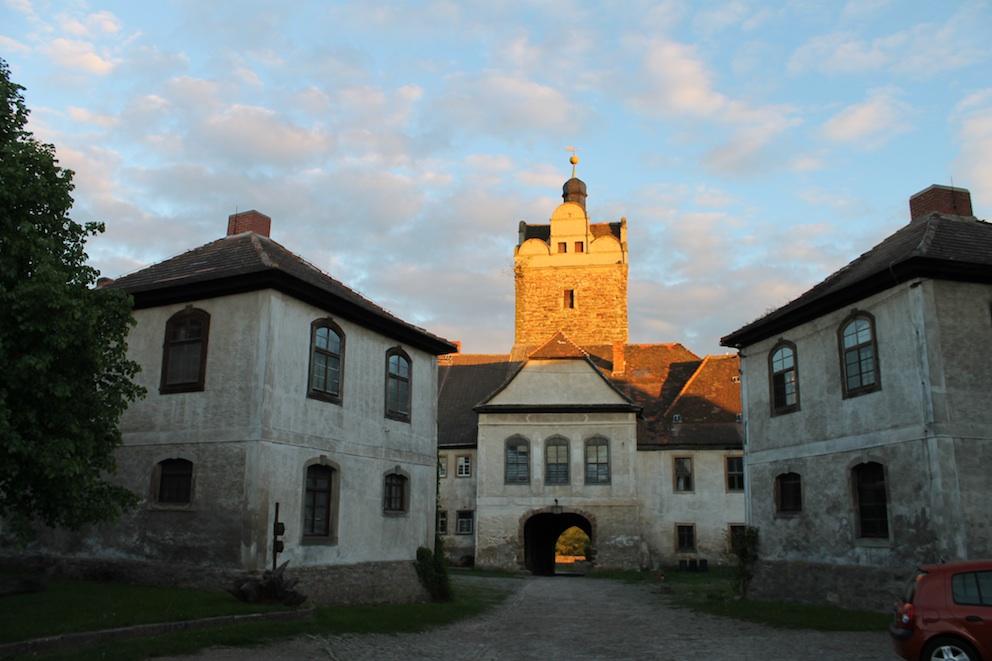 Abendstimmung auf Schloss Allstedt