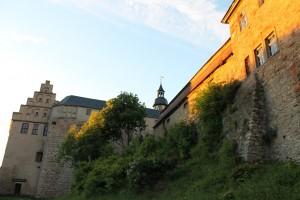 Letzte Sonnenstrahlen auf Schloss Allstedt