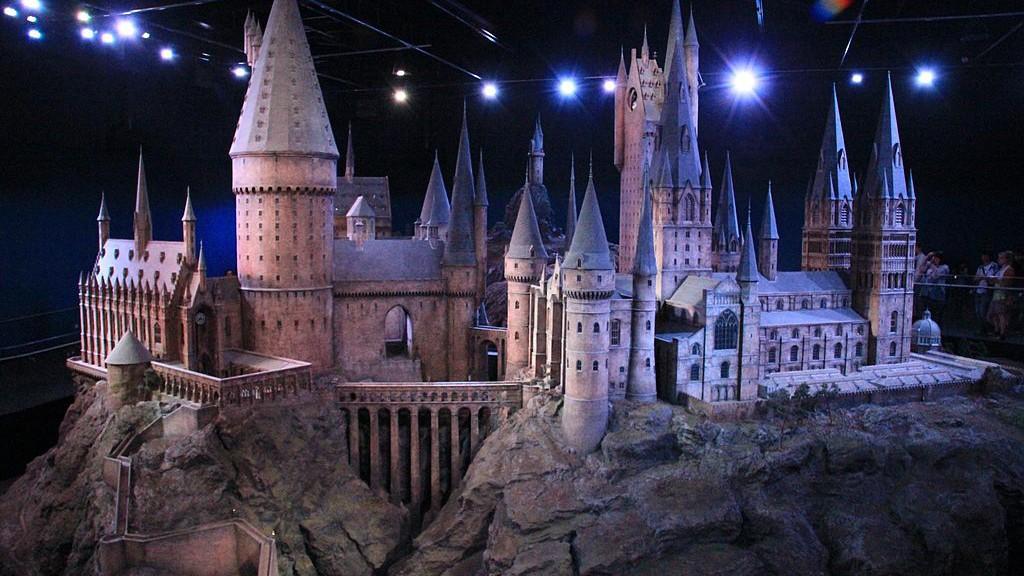 Ein Modell von Schloss Hogwarts