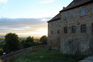 Blick von Schloss Allstedt übers weite Land
