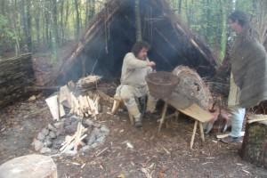 Campus Galli: Der Korbmacher bei der Arbeit