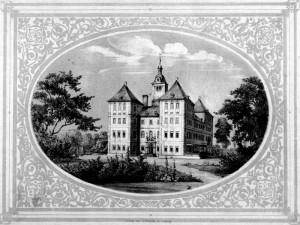 Schloss Rötha um 1860 / Bild: Wikipedia/F. Heise