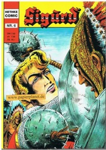 Ritter-Comic Sigurd: Blonder Recke rettet Burgfräulein