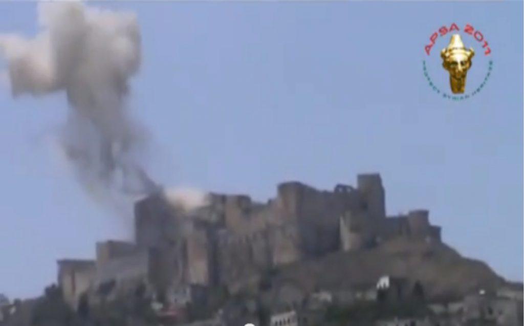 Explosion auf dem Krak des Chevaliers / Screenshot: Youtube