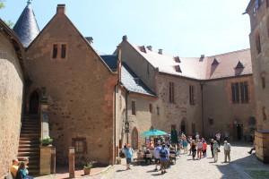 Der Innenhof von Burg Kriebstein