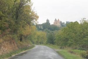 Chateau Milandes von weitem.