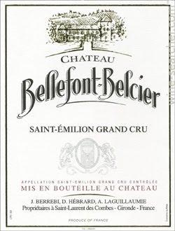 Etikett eines Château Bellefont-Belcier