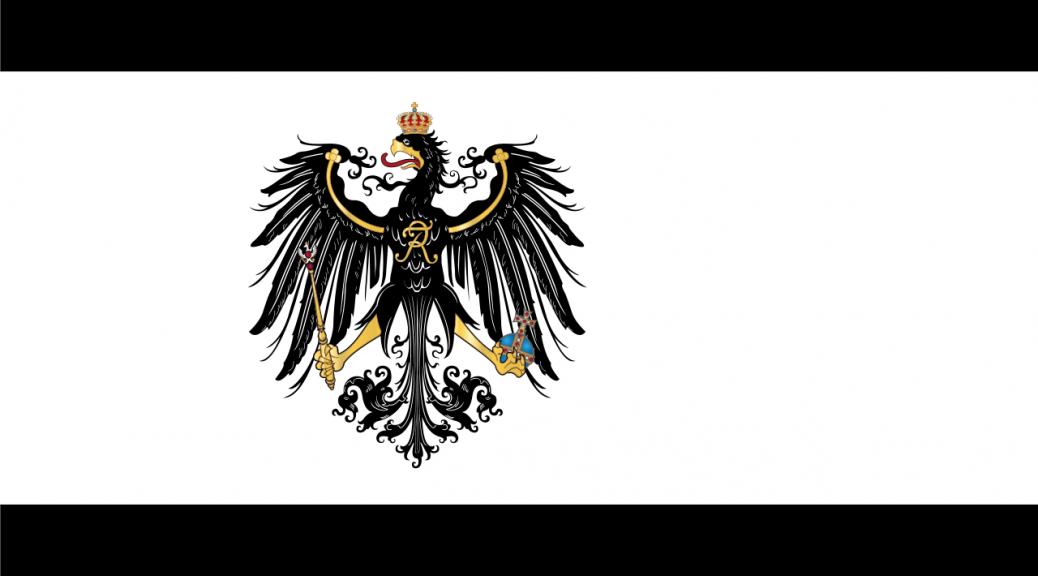 Die Flagge des Königreichs Preußen (gemeinfrei)