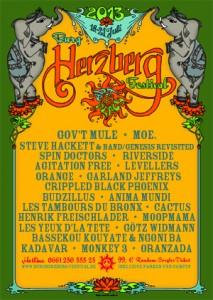 Veranstaltungsplakat des Burg Herzberg Festivals 2013