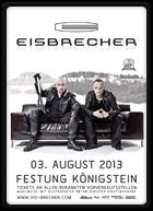 Konzertplakat von Eisbrecher auf der Festung Königstein