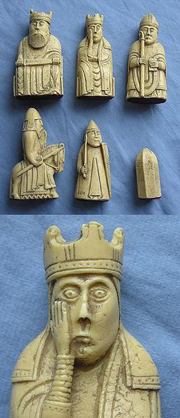 Die Schachfiguren von der Insel Lewis / Foto: Wikipedia / Finlay McWalter / CC-BY-SA-3.0-migrated