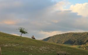 Viel Jura-Landschaft: Ausblick von der Restaurant-Terrasse