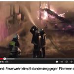Großbrand auf Schloss Kewenig in der Eifel