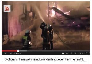 Brand auf Schloss Kewenig / Screenshot: Youtube/Videonachrichten24