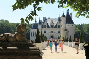 Vorderseite von Schloss Chenonceau