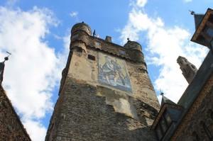 Das Christophorus-Bild an der Reichsburg Cochem