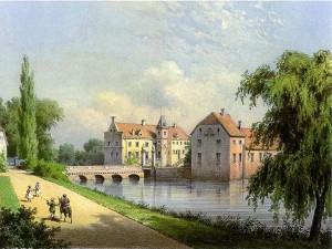 Schloss Senden um 1860 / Sammlung Duncker / Urheberrecht abgelaufen
