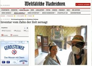 Die Westfälischen Nachrichten berichten über die Entrümpelungsaktion / Bild: Screenshot