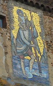 Der Heilige Christophorus an der Reichsburg Cochem