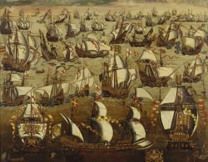 Die Schlacht gegen die Spanische Armada / Bild: Wikipedia/Public Domai