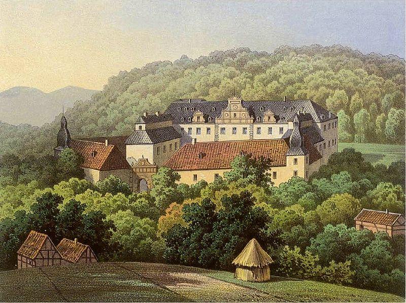 Schloss Ehreshoven um 1860 unter den Grafen von Nesselrode / Bild: Wikipedia/Sammlung Duncker/gemeinfrei