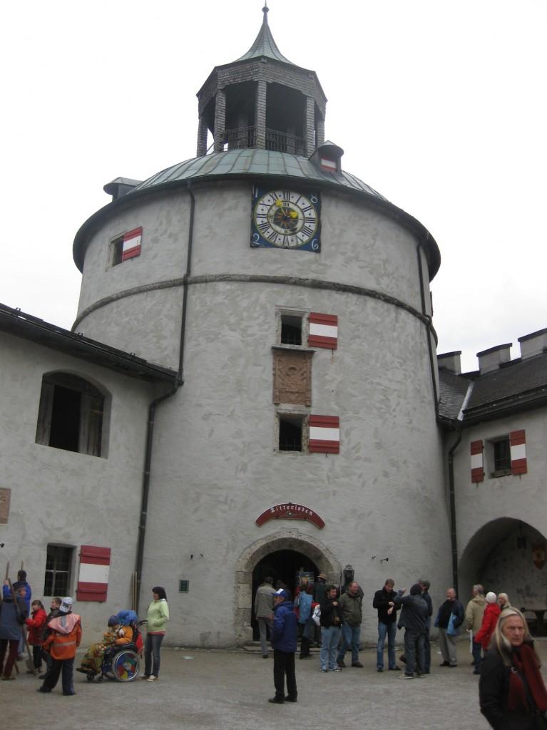 Turm von Burg Hohenwerfen in der Realität / Foto: Burgerbe.de