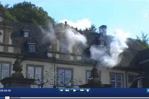Königsbrunn brennt! - Screenshot vom Video aus der ARD-Mediothek