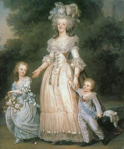 Marie Antoinette mit ihren Kindern, links ihre älteste Tochter Marie Thérèse. Foto: Wikipedia/Musée de France