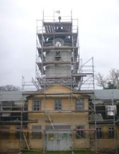 Der Marstall von Schloss Wilhelmsthal bei Eisenach ist für die Instandsetzung eingerüstet, Foto: Architekturbüro Deutsch