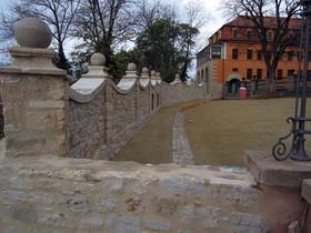 Die Schlossmauer nach der Sanierung / Foto: Stiftung Thüringer Schlösser und Gärten