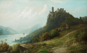 Karl Buchholz: Die Schönburg bei Oberwesel und Pfalzgrafenstein von 1873 / Bild: Wikipedia/Kunsthaus Lempertz/Public Domain
