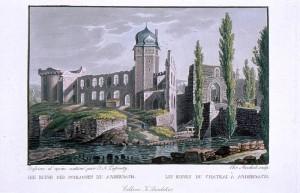 Schloss Andernach um 1838 / Bild: Wikipeida / Christian Meichelt, scan: Frila