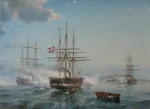 Dänische Dampffregatten: Seeschlacht bei Jasmund 1864 / Bild: Wikipdia/Public Domain