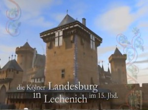 Die Kölner Landesburg Lechenich in der Animation von Ralf Meier / Foto: Screenshot YouTube