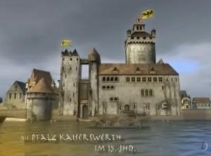 Die Pfalz Kaiserswerth im 15. Jahrhundert: Heute eine Ruine in Düsseldorf / Bild: Screenshot YouTube