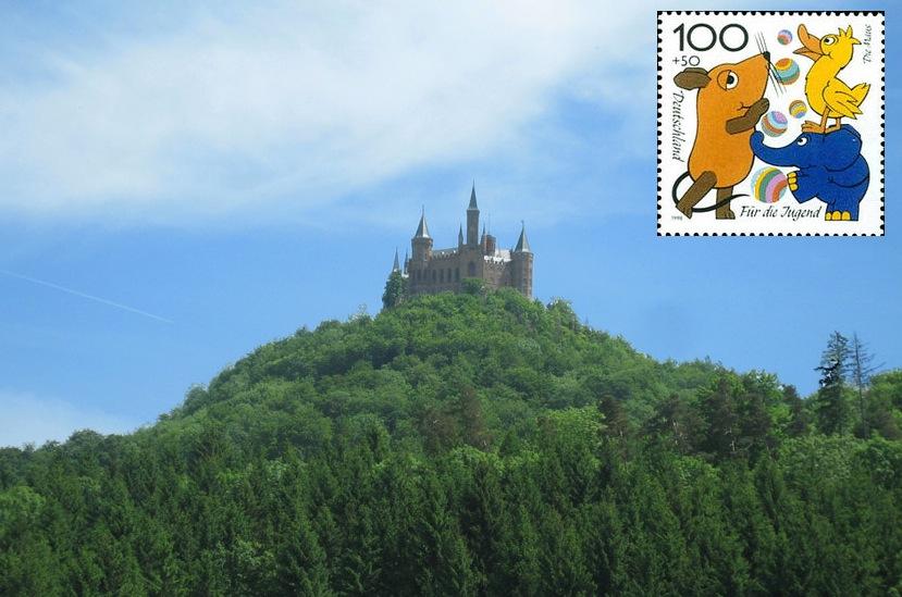 Burg Hohenzollern: Besuch von der Maus...