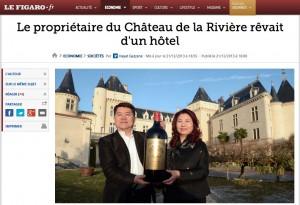 """Der """"Figaro"""" berichtet über die Pläne des Milliardärs für Chateau de la Rivière / Bild: Screenshot"""