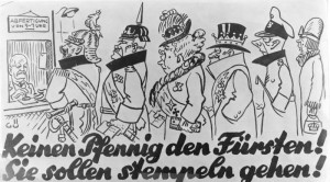 Deutsches Plakat zur Fürstenenteignung / Bild: Bundesarchiv / CC BY-SA 3.0 DE