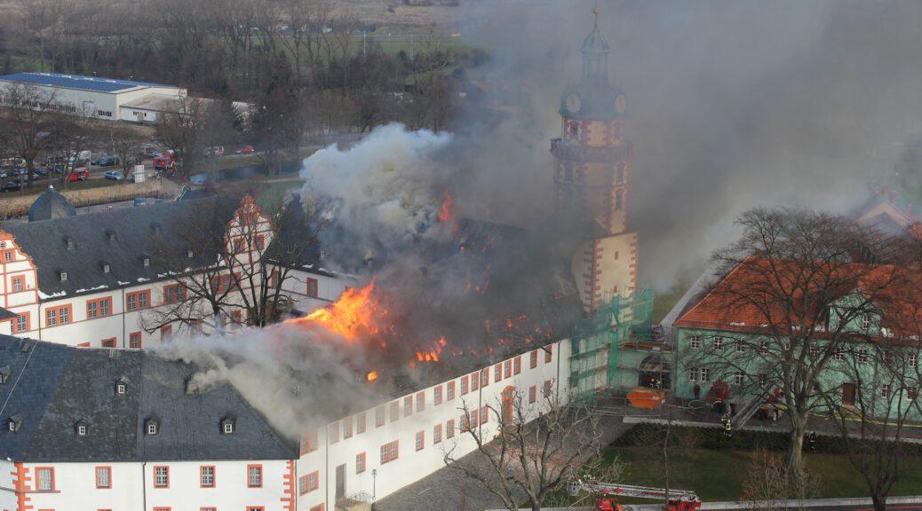 Katastrophaler Schlossbrand in Ohrdruf (c) Manfred Ständer